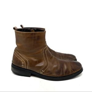 Bed Stu Brown Mens Rugged Leather Boots